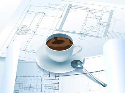 bouwtekening-en-koffie