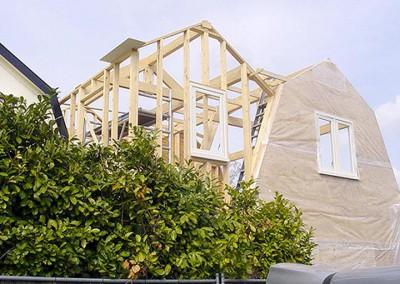 Isberts uitbreiding houten woning