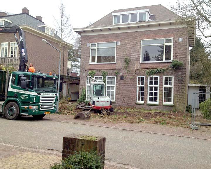 villa in oude staat, bouw begint